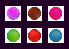 Gradient mesh. Collection of colorful blurred backgrounds. Set of blurry coloured textures. Vector illustration. Purple, brown, green, red, blue Royalty Free Stock Photos
