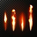 Gradient mesh fire set Royalty Free Stock Images