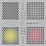 Gradient metal holes background Royalty Free Stock Photos