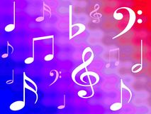 Gradient musical notes. Background Vector Illustration