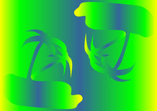 Gradient palm trees Stock Photo