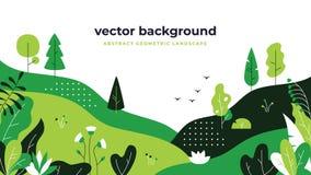 Free Gradient Plant Landscape. Minimal Flat Leaves Design, Color Gradation Cartoon Background, Forest Plants. Floral Nature Stock Photos - 141522623