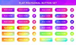 gradient polygonal vector buttons vector illustration