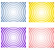 Gradient Radial Spring Backgrounds. A collection of 4 gradient light spring coloured background with radial circle centers Royalty Free Stock Photo