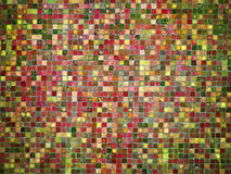Gradient red and green colored mosaic tiles. Gradient red and green colored mosaic background tiles Stock Images