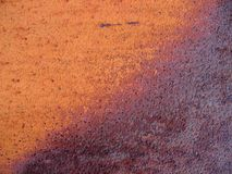 Gradient rust metal texture. Gradient (orange to brown) rust metal texture Stock Images