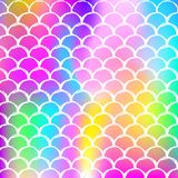Holographic scale background with gradient mermaid. vector illustration