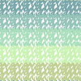 Gradient seamless pattern in turquoise sea colors. Hand drawn vector texture Stock Image