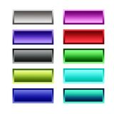 Gradient set buttons. A set of gradient buttons Stock Image