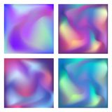 Gradient set. Modern abstract background. Colorful fluid cover for poster, banner, flyer and presentation. Trendy soft. Color. Template with screen gradient set stock illustration