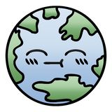 Gradient shaded cartoon of a planet earth. A creative gradient shaded cartoon planet earth vector illustration