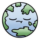 Gradient shaded cartoon of a planet earth. A creative gradient shaded cartoon planet earth royalty free illustration