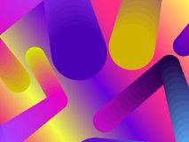 Gradient shape. Modern colorful geometric background. Abstract 3d composition. Vector. Illustration Stock Photos