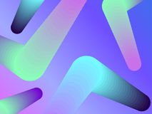 Gradient shape. Modern colorful geometric background. Abstract 3d composition. Vector. Illustration Stock Photography