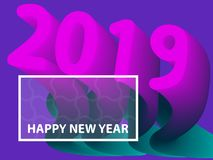 2019 gradient shapes composition. Vector illustration. 2019 gradient shapes composition background. Vector illustration Royalty Free Stock Image