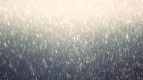 Gradient sky with falling first snow, snowflake. Holiday Winter background for Merry Christmas and Happy New Year. royalty free stock photos
