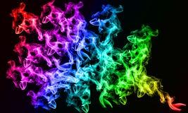 Gradient Smokey background. Bright rainbow gradient effect of a Smokey effect background Royalty Free Stock Photos