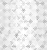 Gradient snowflake pattern. Seamless vector winter background Royalty Free Stock Image