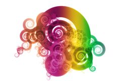 Gradient Spectrum Color Blend Abstract Design. Background on White Royalty Free Stock Photos