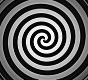Gradient spiralé noir et blanc Image stock