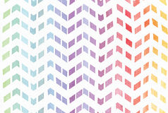 Gradient splattered rainbow background in zigzag pattern, hand drawn with watercolor ink. Seamless painted pattern, good for decor Royalty Free Stock Photos