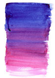 Gradient tiré par la main rose et violet d'aquarelle Images libres de droits