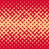 Gradient tramé arrondi sans couture rétro Tan Pattern rouge sale irrégulière de vecteur Photographie stock libre de droits