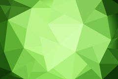 Gradient vert de triangles abstraites pour le fond styl géométrique Photographie stock libre de droits
