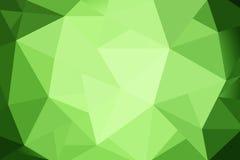 Gradient vert de triangles abstraites pour le fond styl géométrique Photos stock