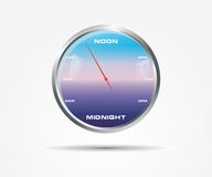 Gradient Wall Clock. With blue and purple colors and words Royalty Free Stock Image