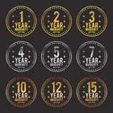 Gradient Warranty Badges Royalty Free Stock Photos