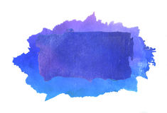 Gradient watercolor  background hand drawn. Square Royalty Free Stock Photo