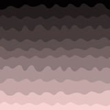 Gradient waves seamless pattern, pink and black. Vector Stock Photos