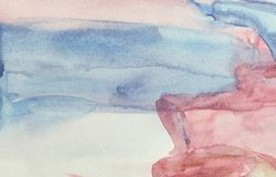 Gradient of wet watercolor drawing Stock Photo