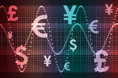 Gradient World Currencies Business Abstract Backgr. Ound Wallpaper Stock Image