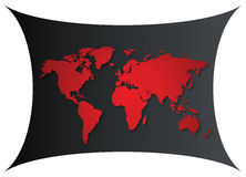 Gradient world map Stock Images