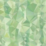 Gradient zieleń trójboka wieloboka wzoru tło zdjęcie stock