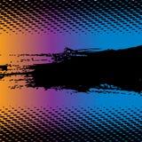 Gradiente colorido con el espacio del texto Stock de ilustración
