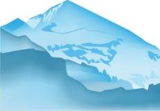 Gradiente de la montaña Foto de archivo