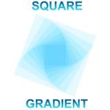 Gradiente quadrato Illustrazione Vettoriale