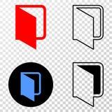 Gradiented拼贴画加点了开放文件夹和Grunged邮票 皇族释放例证