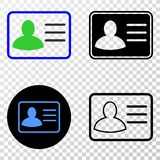 Gradiented拼贴画加点了用户卡片和Grunged邮票 库存例证