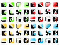 gradiented икона Стоковые Изображения RF
