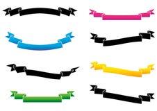 gradiented bandvektor stock illustrationer