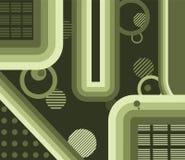 Gradientes verdes abstractos Imagen de archivo