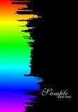 gradientowi farby tęczy pluśnięcia Zdjęcia Royalty Free
