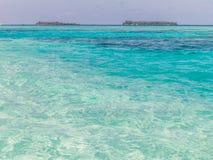 Gradientowy błękitny morze i jasny niebo Obraz Royalty Free