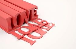gradientowy miłości siatki wektoru słowo Obraz Royalty Free