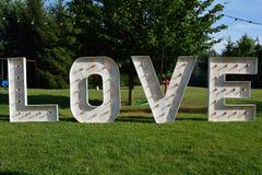 gradientowy miłości siatki wektoru słowo zdjęcia stock