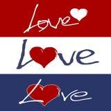 gradientowy miłości siatki wektoru słowo Obraz Stock